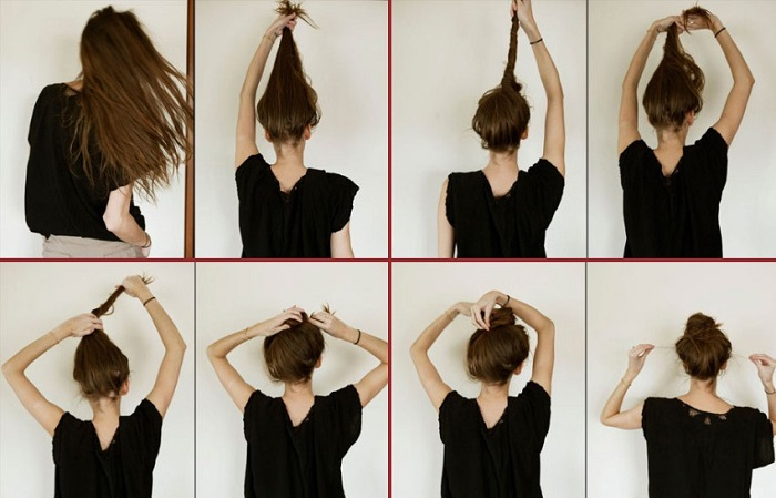 This is how to do a messy bun step by step your messy bun is ready urmus Gallery