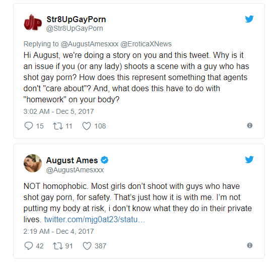 pornstar August Ames dies after controversial tweet